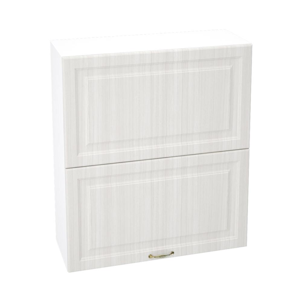 Шкаф верхний горизонтальный высокий ШВГ 802 ВИКТОРИЯ (Сандал белый) 800 мм