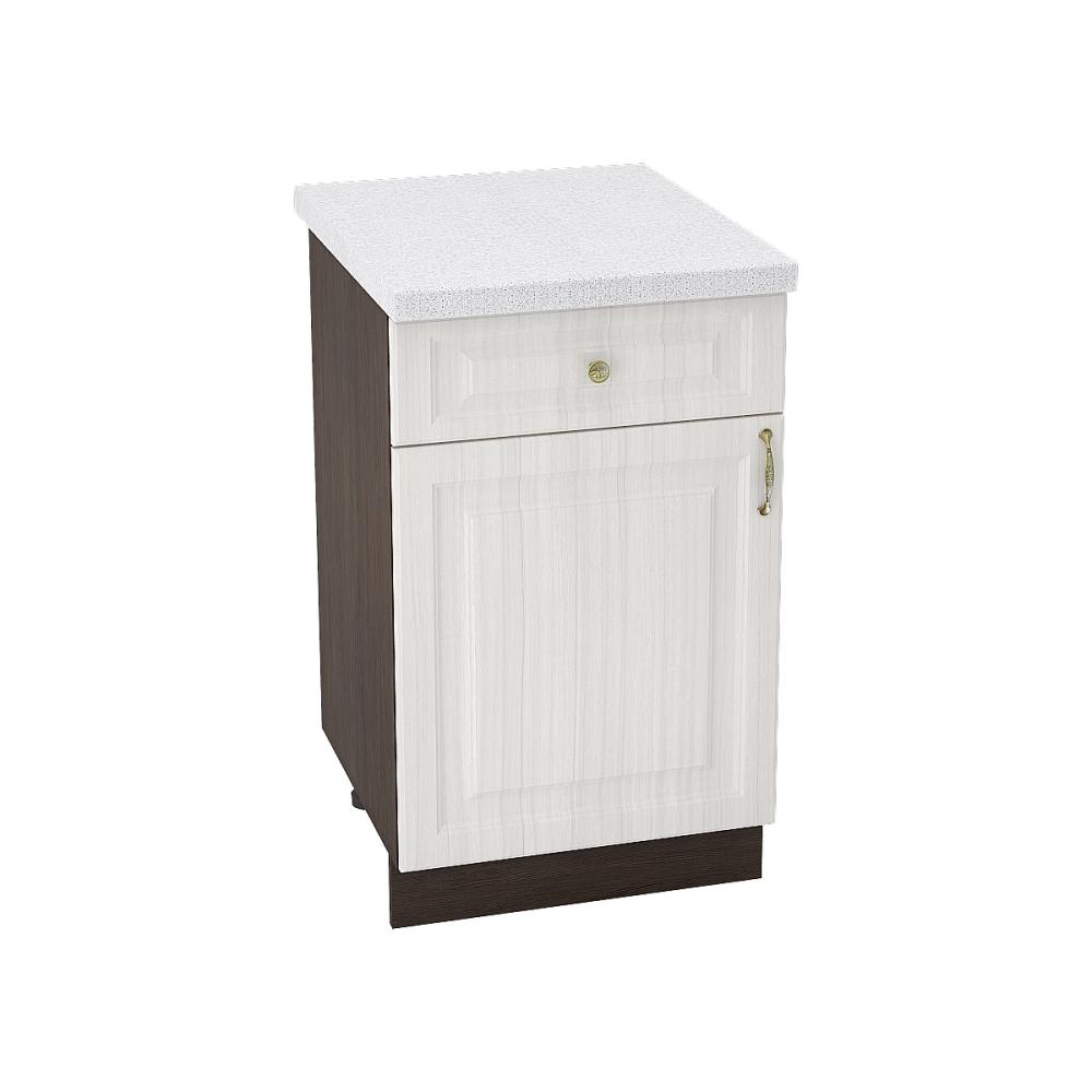 Шкаф нижний с 1 ящиком ШН1Я 500 ВИКТОРИЯ (Сандал белый) 500 мм