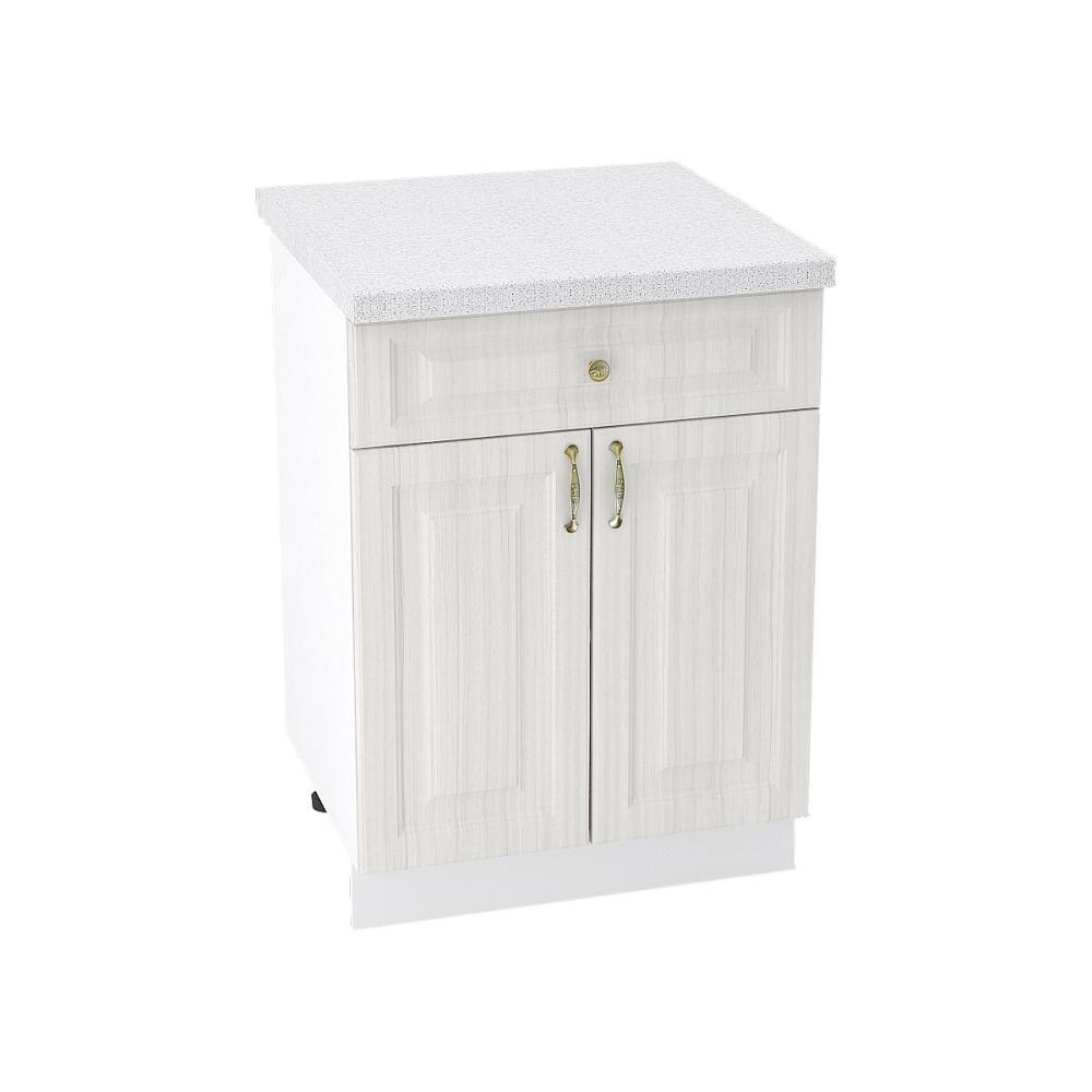Шкаф нижний с 1 ящиком ШН1Я 600М ВИКТОРИЯ (Сандал белый) 600 мм