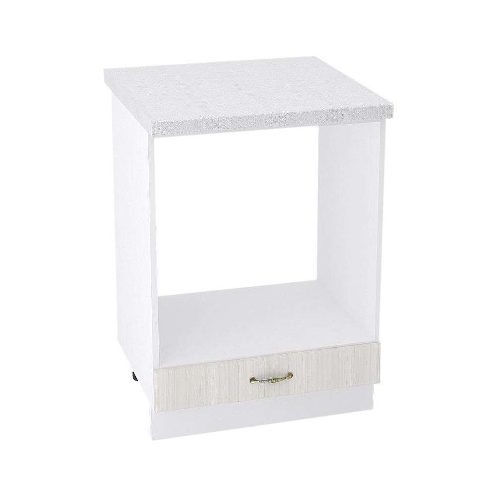 Шкаф нижний под духовку ШНД 600 ВИКТОРИЯ (Сандал белый) 600 мм