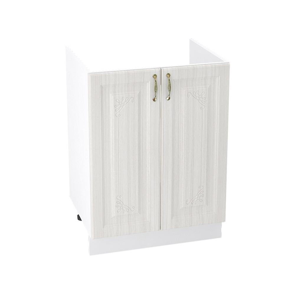Шкаф нижний под мойку ШНМ 600 ВИКТОРИЯ (Сандал белый) 600 мм
