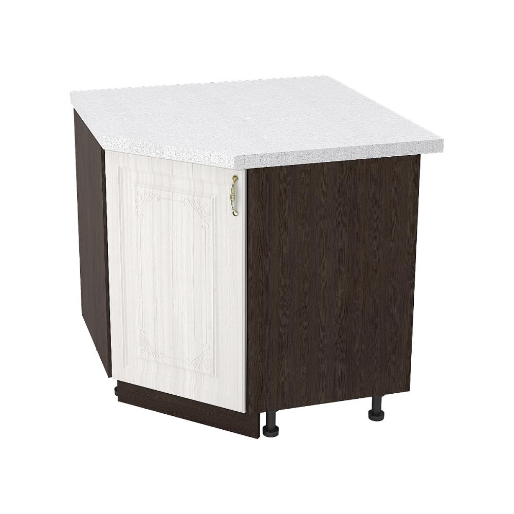Шкаф нижний угловой ШНУ 890 ВИКТОРИЯ (Сандал белый) 890 мм