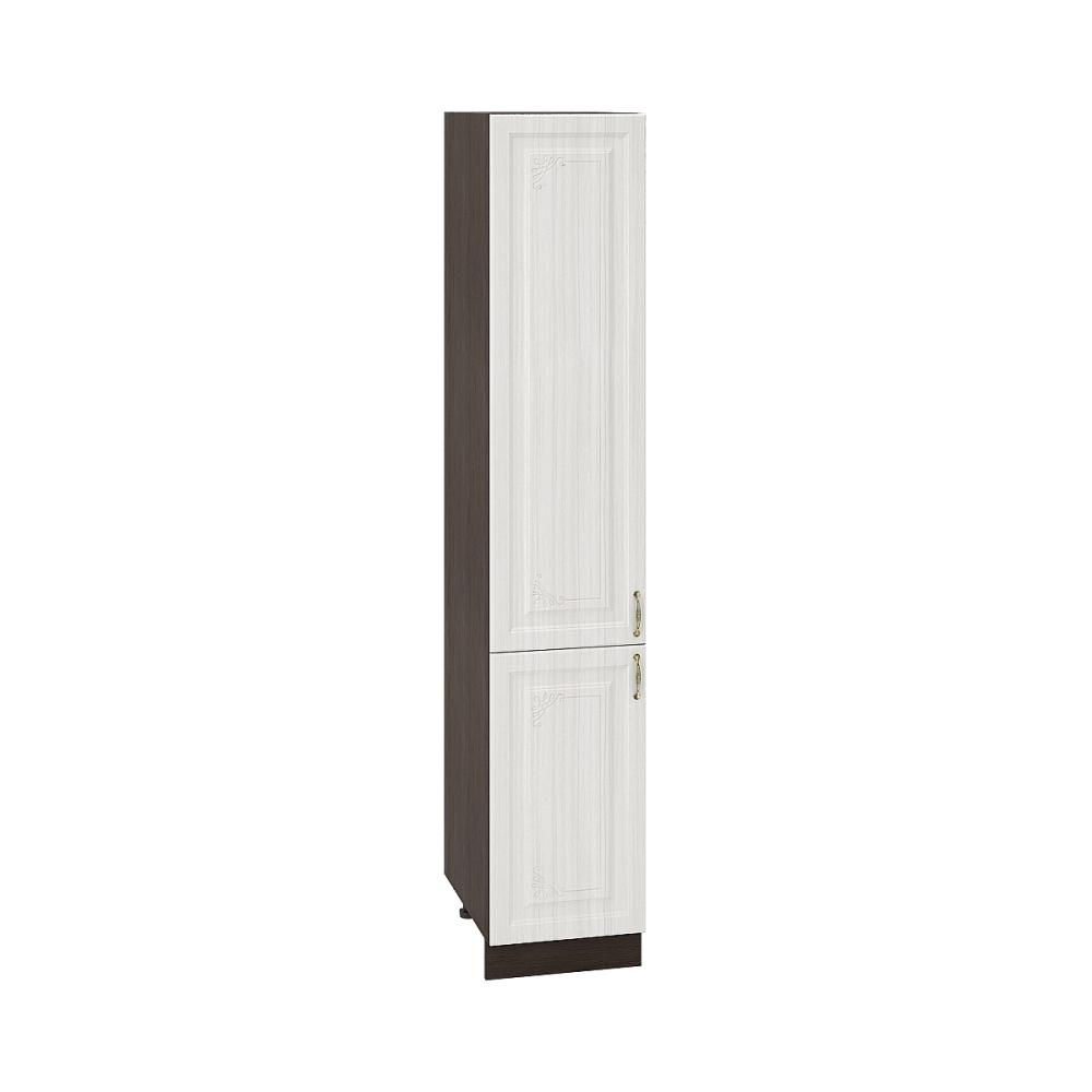 Шкаф пенал ШП 400 ВИКТОРИЯ (Сандал белый) 400 мм