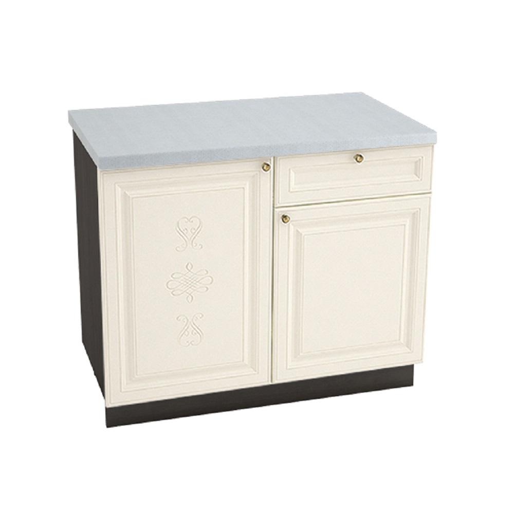Шкаф нижний с 1 ящиком ШН1Я 1000 ВЕРСАЛЬ (Ваниль софт) 1000 мм