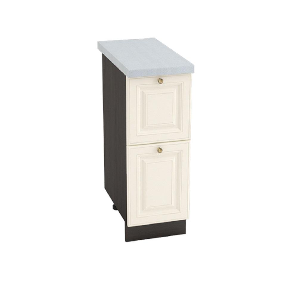 Шкаф нижний с 2 ящиками ШН2Я 300 ВЕРСАЛЬ (Ваниль софт) 300 мм