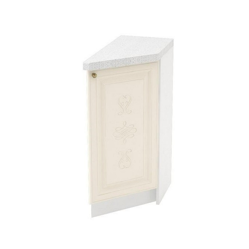 Шкаф нижний угловой торцевой правый ШНТ 300 R ВЕРСАЛЬ (Ваниль софт) 300 мм