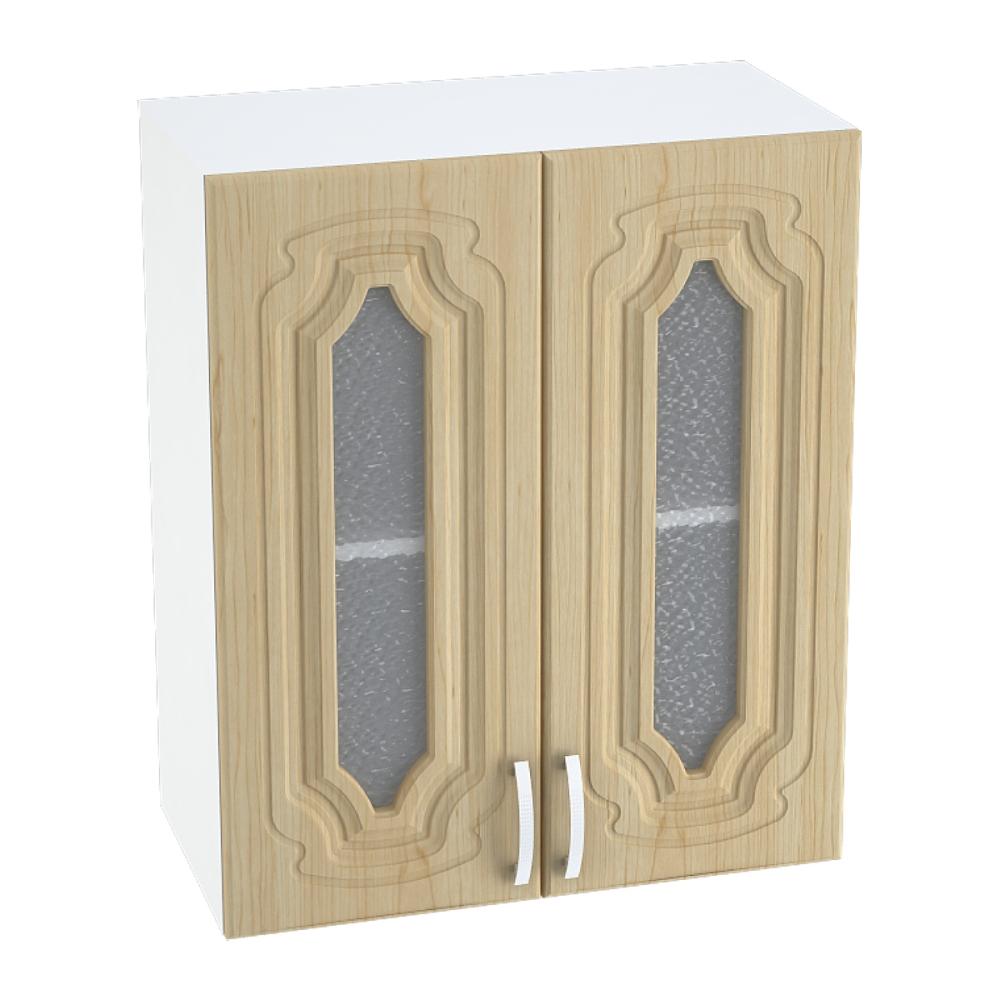 Шкаф верхний со стеклом ШВС 600 НАСТЯ (Береза) 600 мм