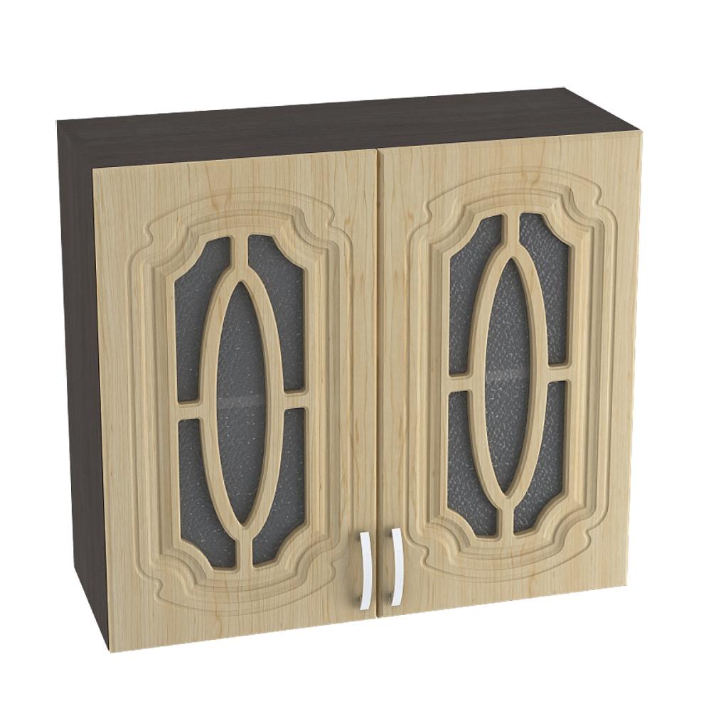 Шкаф верхний со стеклом ШВС 800 НАСТЯ (Береза) 800 мм