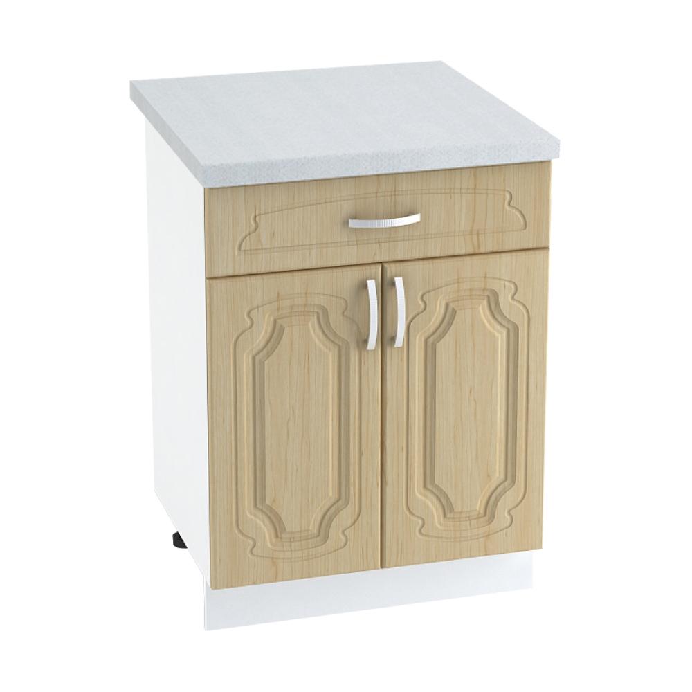 Шкаф нижний с 1 ящиком ШН1Я 600М НАСТЯ (Береза) 600 мм
