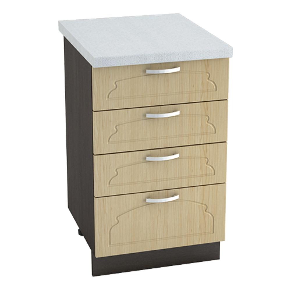 Шкаф нижний с 4 ящиками ШН4Я 500 НАСТЯ (Береза) 500 мм