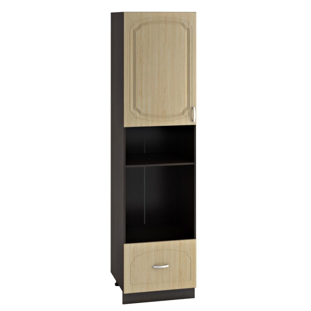Шкаф пенал высокий ШП 606НМ НАСТЯ (Береза) 600 мм