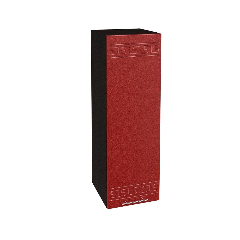 Шкаф верхний высокий ШВ 309 ГРЕЦИЯ (Гранатовый металлик) 300 мм