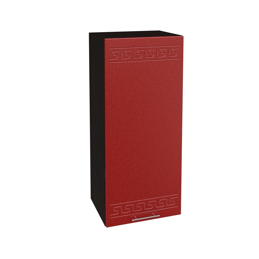 Шкаф верхний высокий ШВ 409 ГРЕЦИЯ (Гранатовый металлик) 400 мм