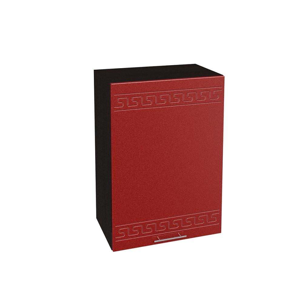 Шкаф верхний ШВ 500 ГРЕЦИЯ (Гранатовый металлик) 500 мм