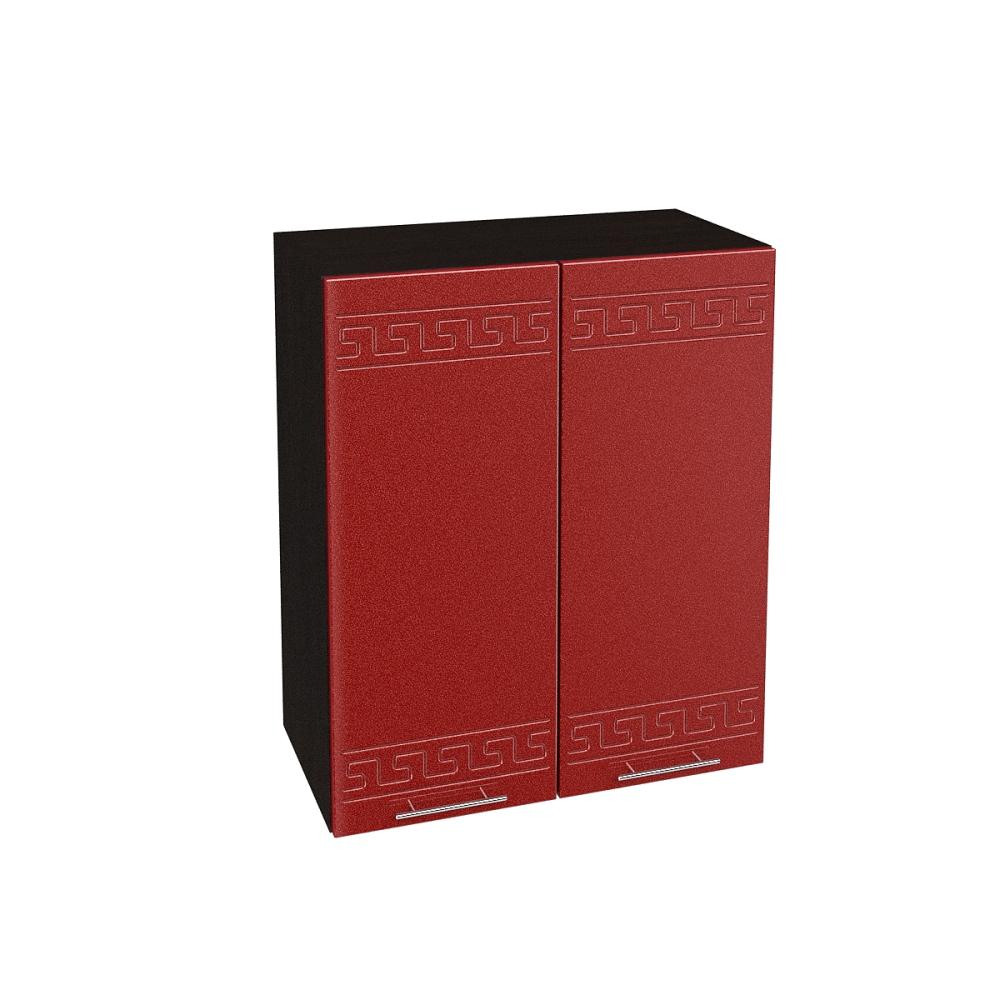 Шкаф верхний ШВ 600 ГРЕЦИЯ (Гранатовый металлик) 600 мм