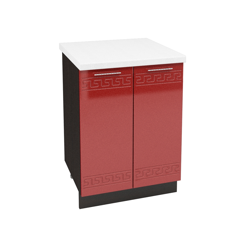 Шкаф нижний ШН 600 ГРЕЦИЯ (Гранатовый металлик) 600 мм