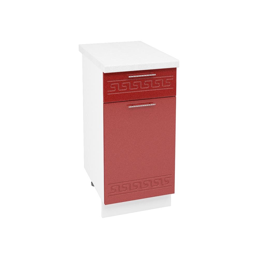Шкаф нижний с 1 ящиком ШН1Я 400 ГРЕЦИЯ (Гранатовый металлик) 400 мм