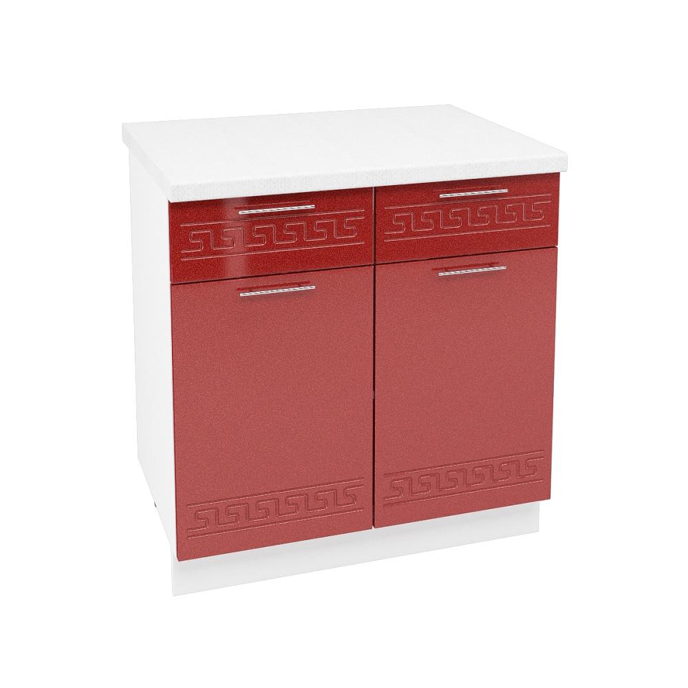 Шкаф нижний с 1 ящиком ШН1Я 800 ГРЕЦИЯ (Гранатовый металлик) 800 мм