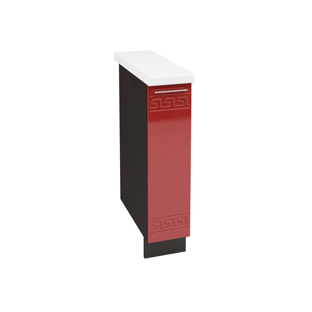 Шкаф нижний бутылочница ШНБ 200 М ГРЕЦИЯ (Гранатовый металлик) 200 мм