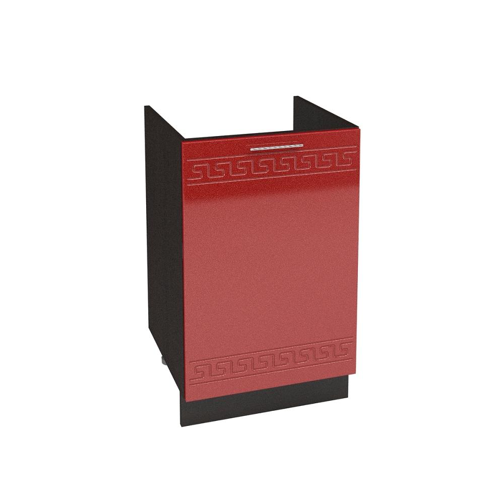 Шкаф нижний под мойку ШНМ 500 ГРЕЦИЯ (Гранатовый металлик) 500 мм