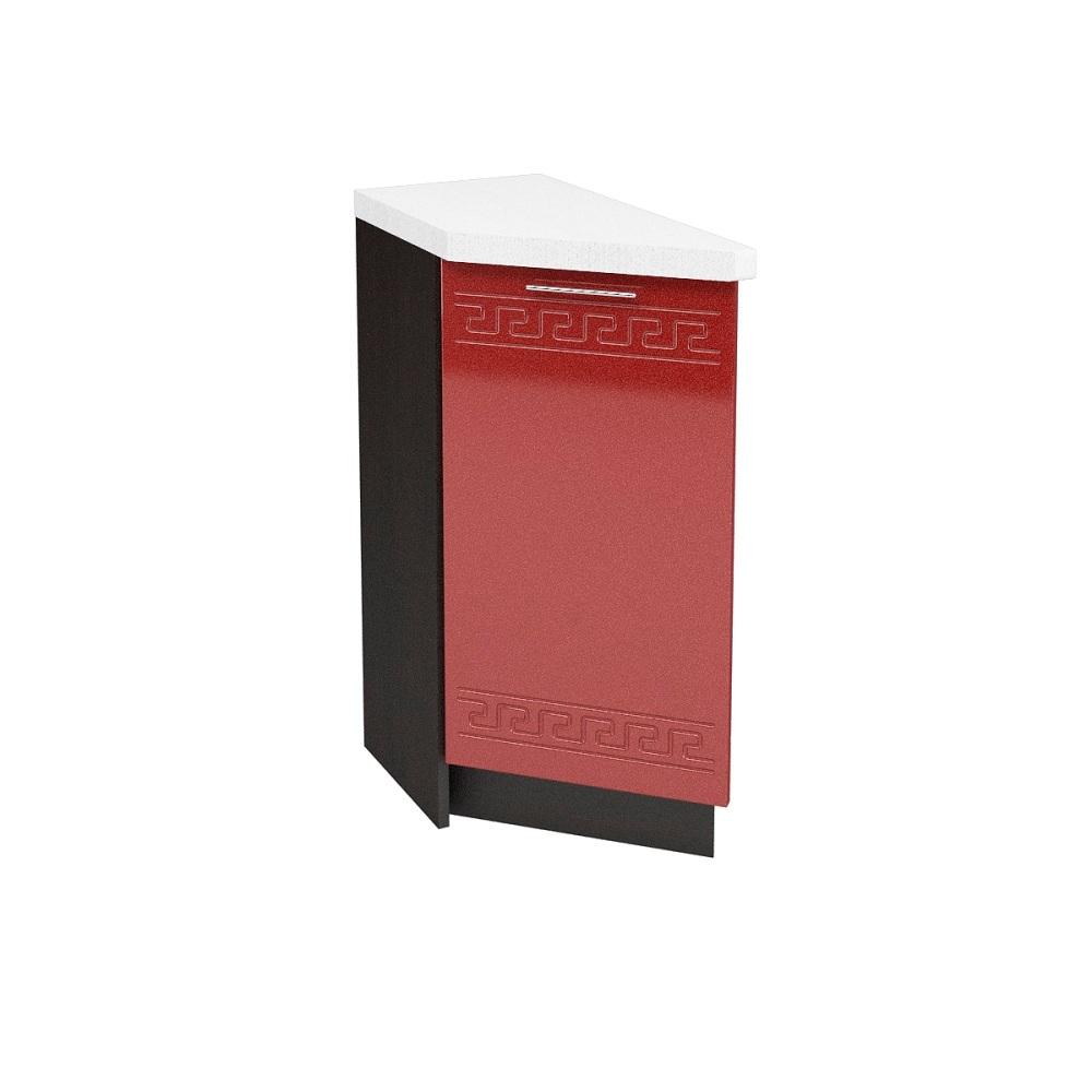 Шкаф нижний угловой торцевой левый ШНТ 300 L ГРЕЦИЯ (Гранатовый металлик) 300 мм