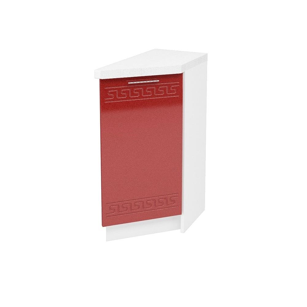Шкаф нижний угловой торцевой правый ШНТ 300 R ГРЕЦИЯ (Гранатовый металлик) 300 мм