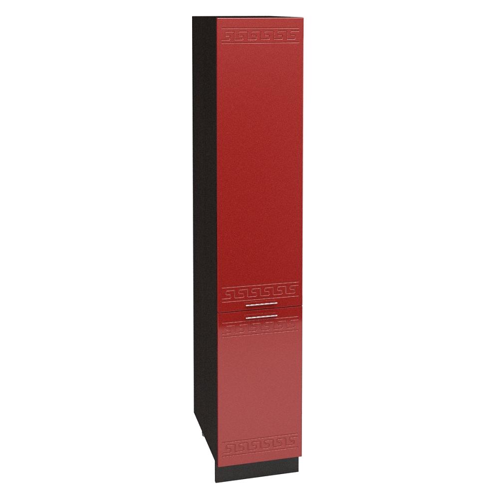 Шкаф пенал ШП 400 ГРЕЦИЯ (Гранатовый металлик) 400 мм