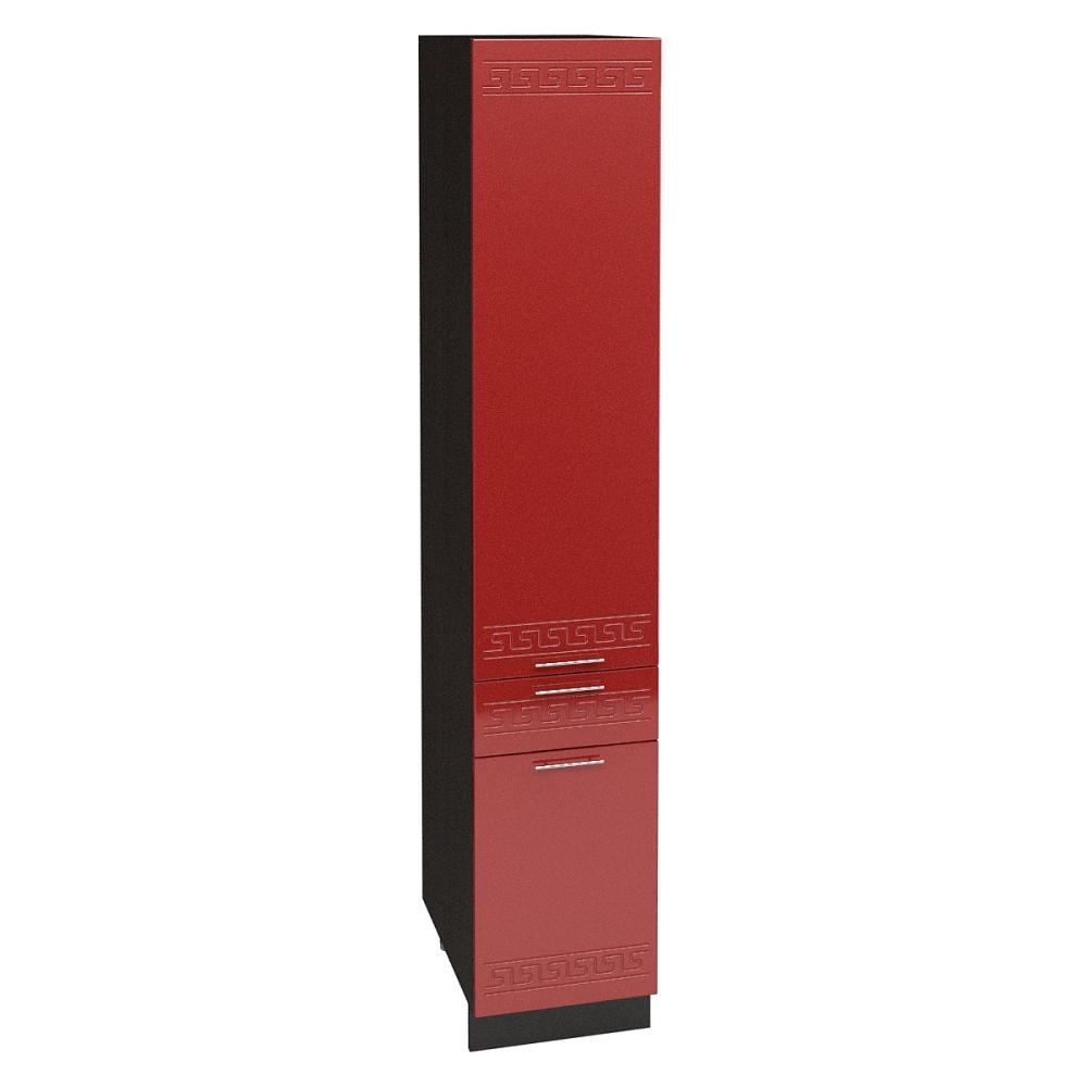 Шкаф пенал с 1 ящиком ШП 1Я 400 ГРЕЦИЯ (Гранатовый металлик) 400 мм