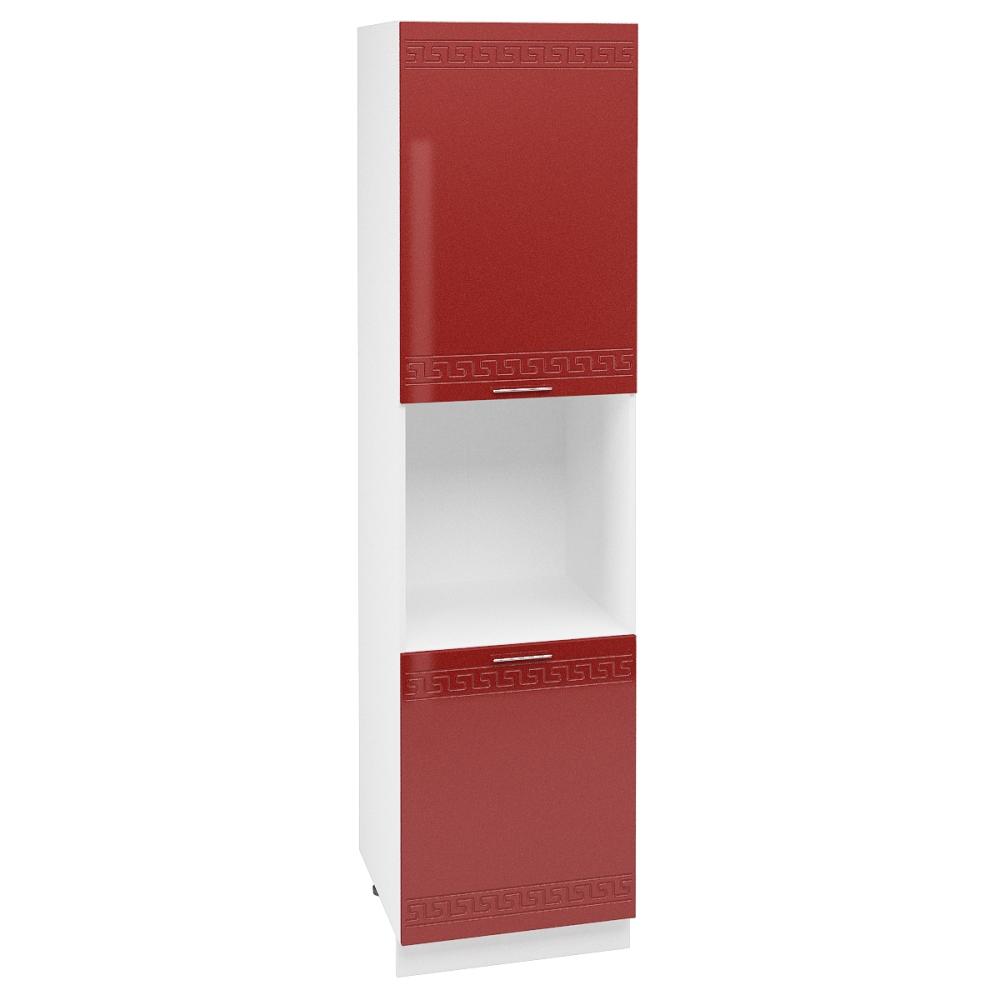 Шкаф пенал высокий ШП 600Н ГРЕЦИЯ (Гранатовый металлик) 600 мм