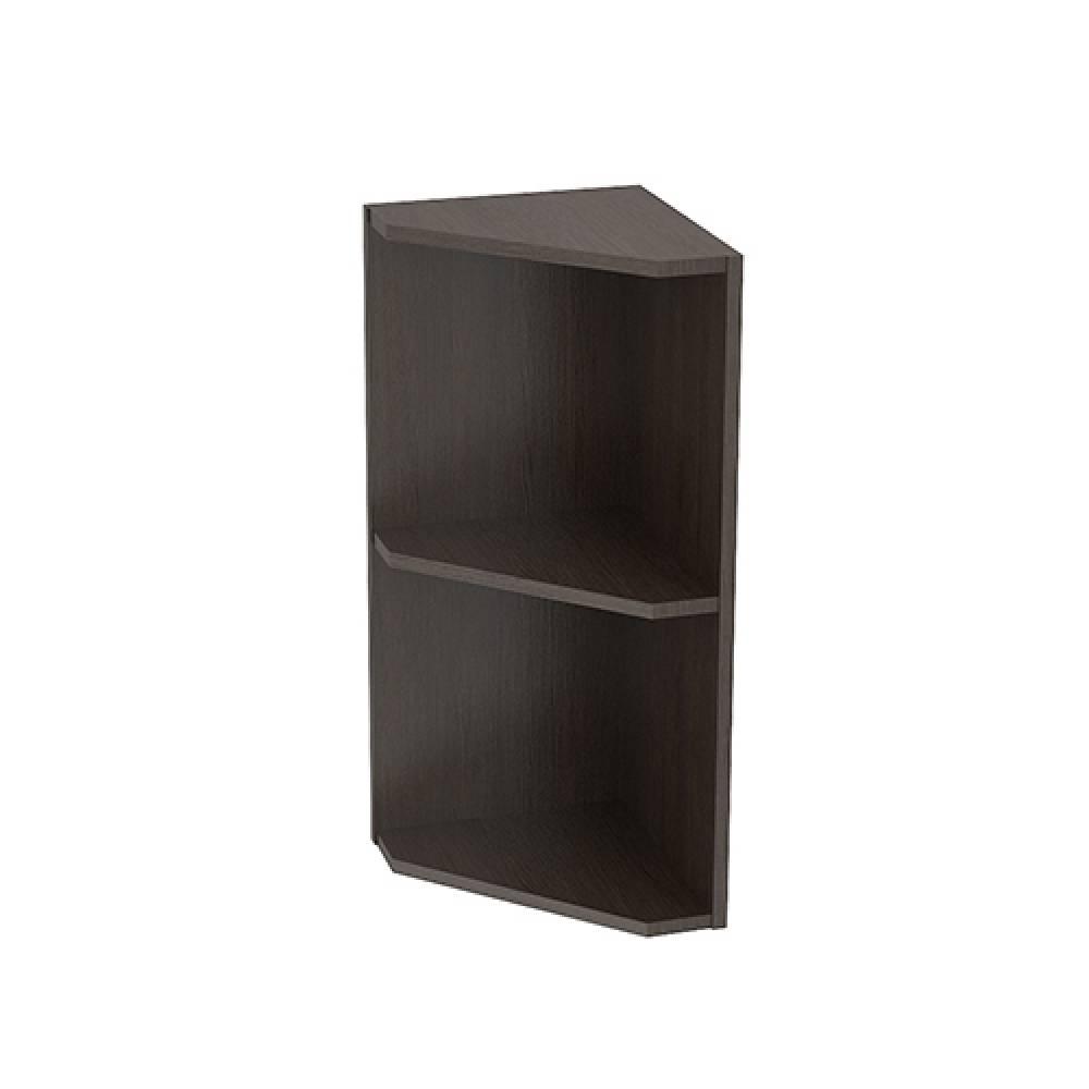 Шкаф верхний угловой ШВПУ 300 ТЕРРА (Ваниль софт - декор Ель карпатская) 300 мм