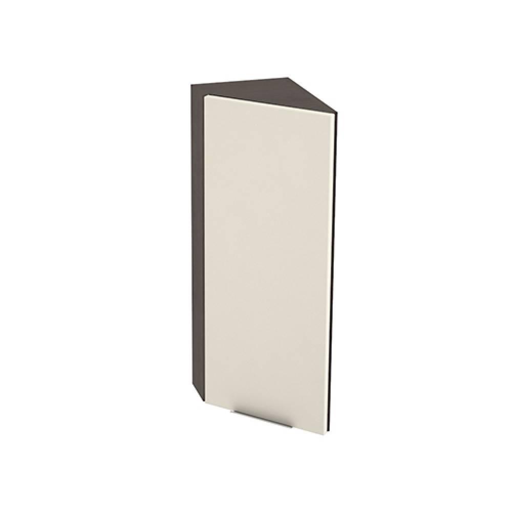 Шкаф верхний угловой торцевой левый ШВТ 224 ТЕРРА (Ваниль софт) 224 мм