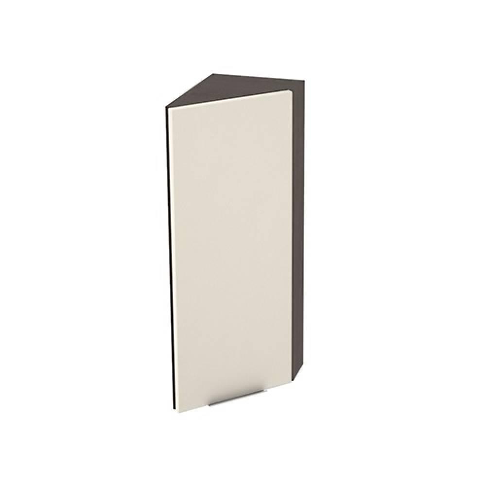 Шкаф верхний угловой торцевой высокий правый ШВТ 224Н ТЕРРА (Ваниль софт) 224 мм