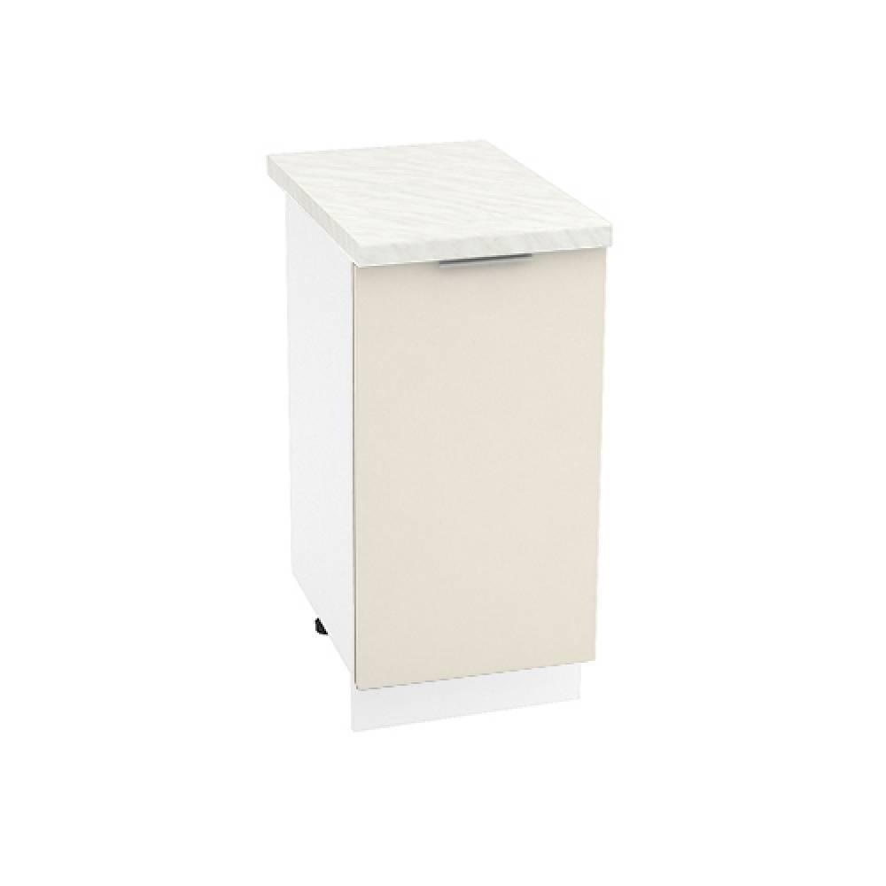 Шкаф нижний ШН 400 ТЕРРА (Ваниль софт) 400 мм