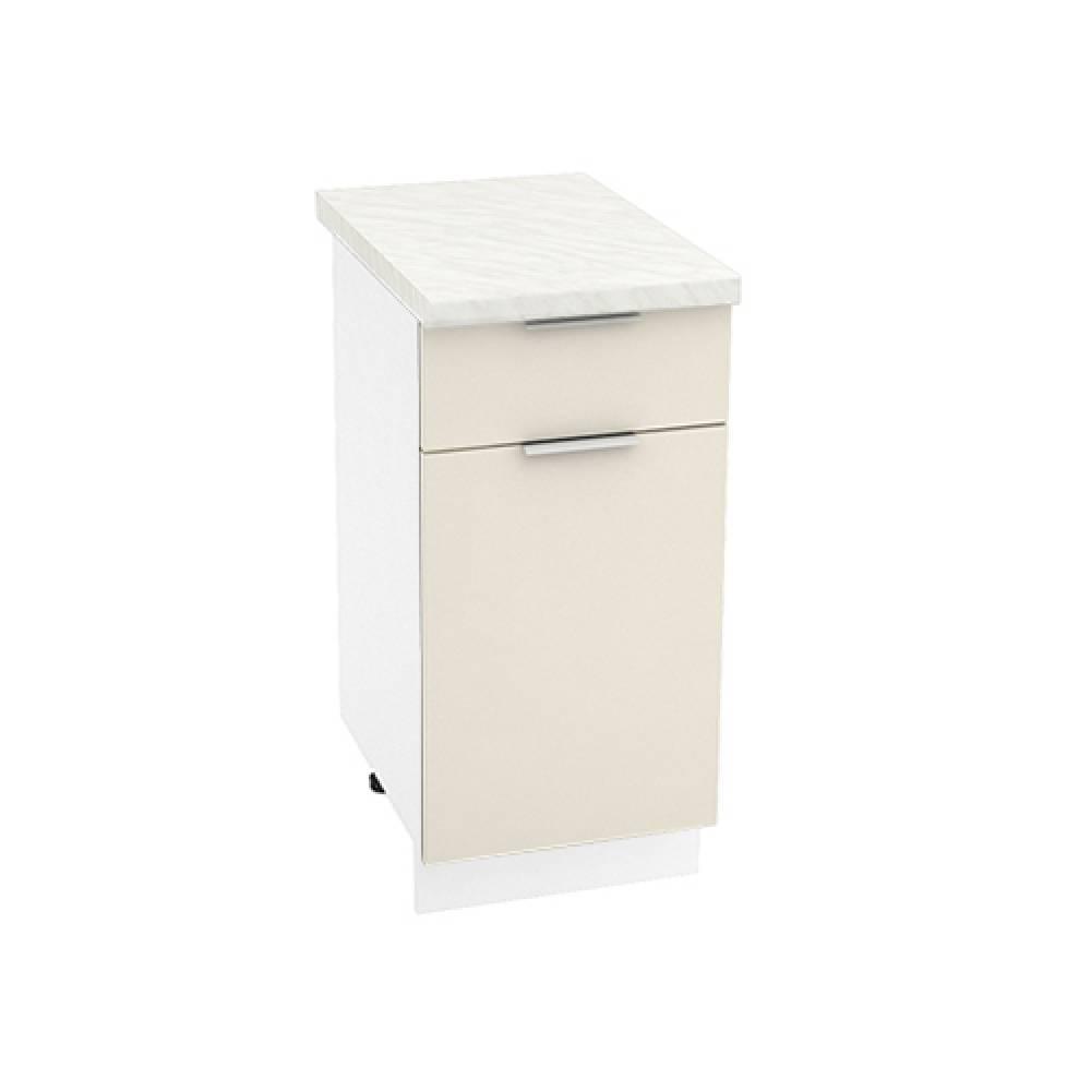 Шкаф нижний с 1 ящиком ШН1Я 400 ТЕРРА (Ваниль софт) 400 мм