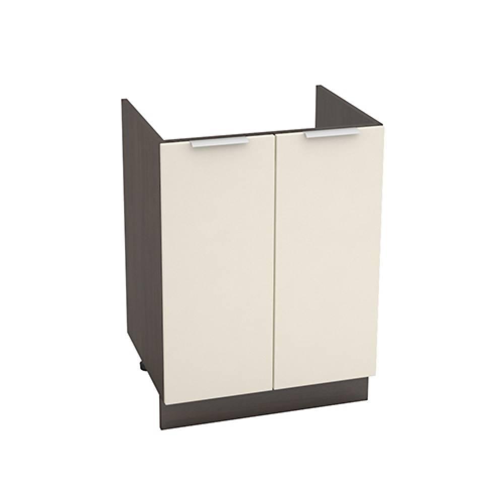 Шкаф нижний под мойку ШНМ 600 ТЕРРА (Ваниль софт) 600 мм
