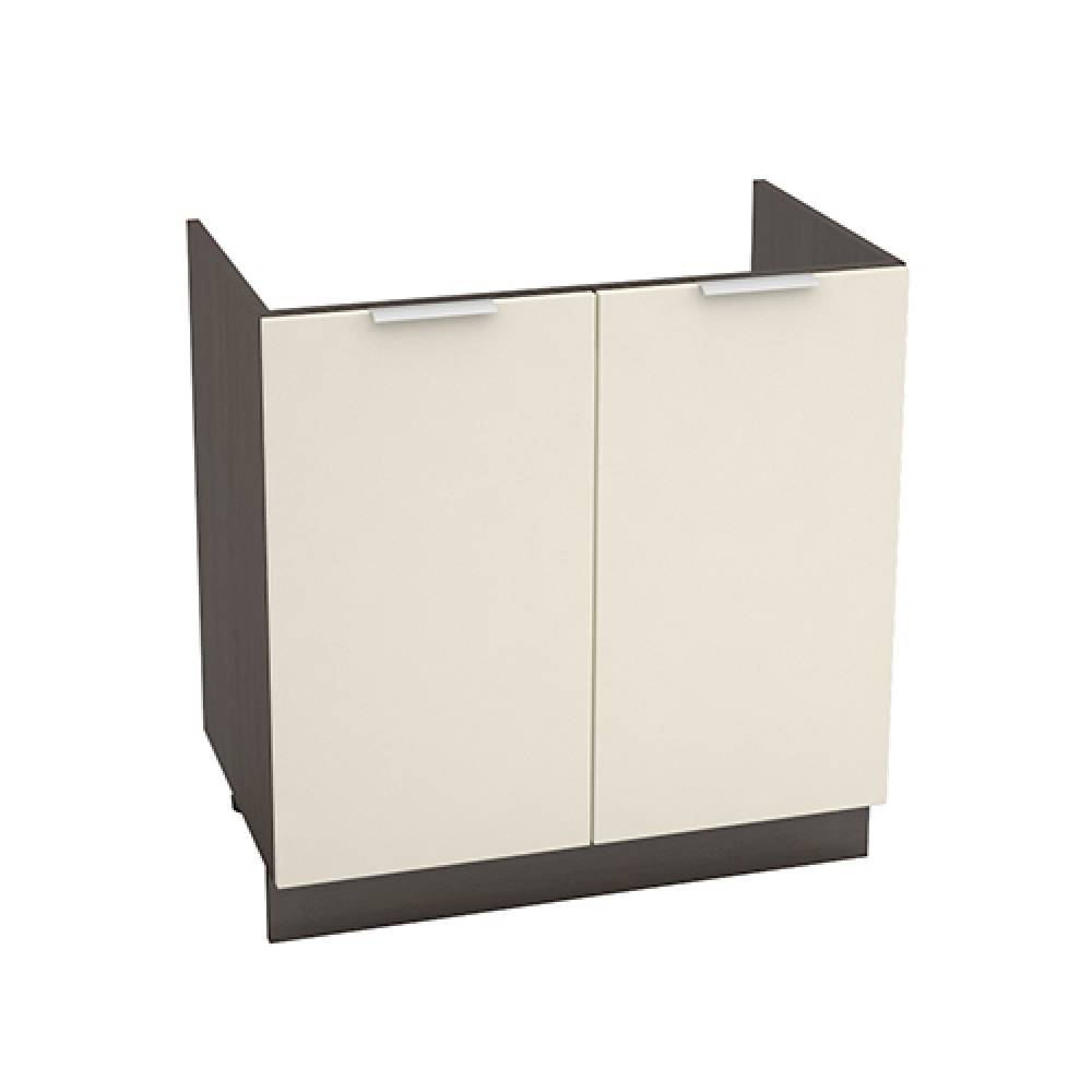 Шкаф нижний под мойку ШНМ 800 ТЕРРА (Ваниль софт) 800 мм