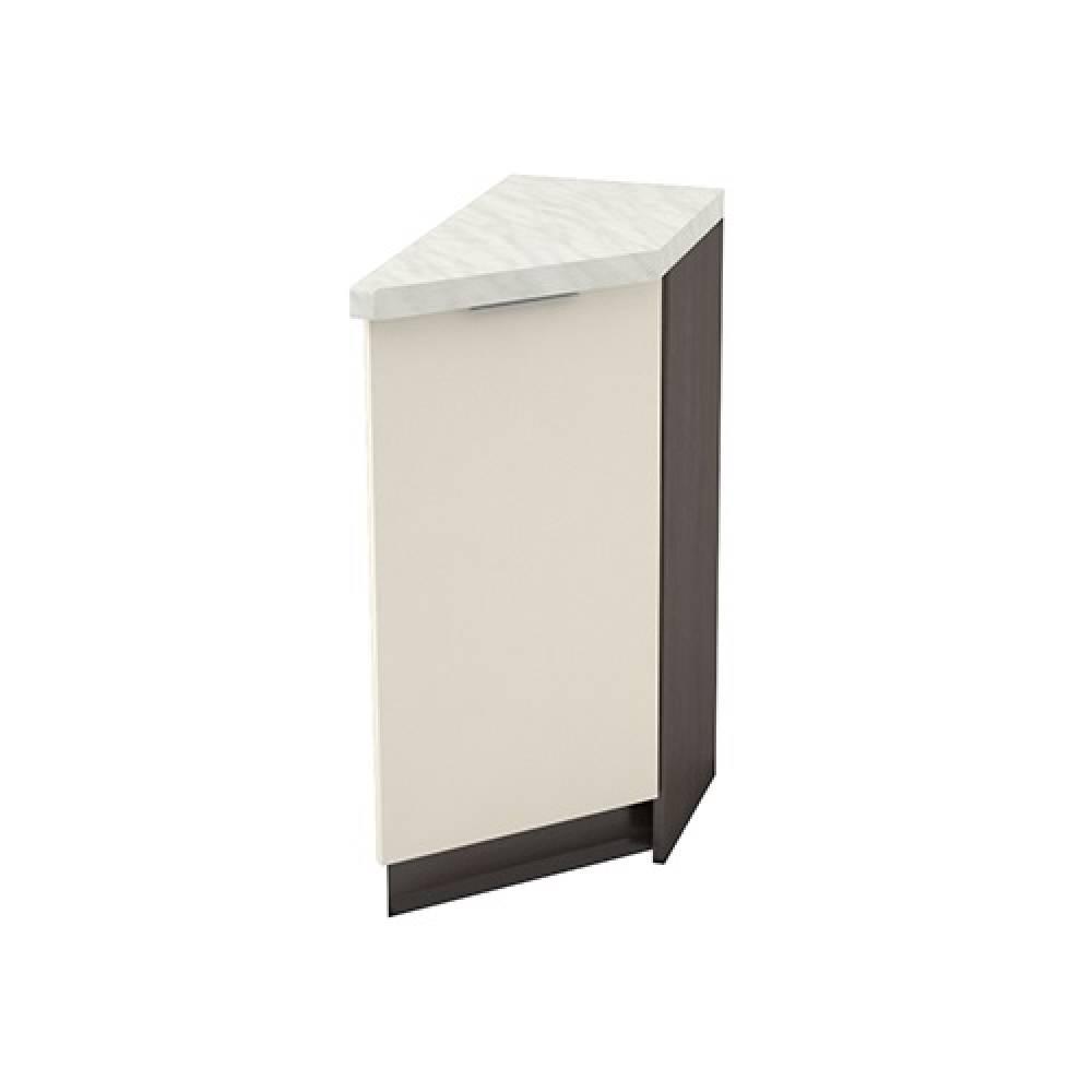 Шкаф нижний угловой торцевой правый ШНТ 300 R ТЕРРА (Ваниль софт) 300 мм