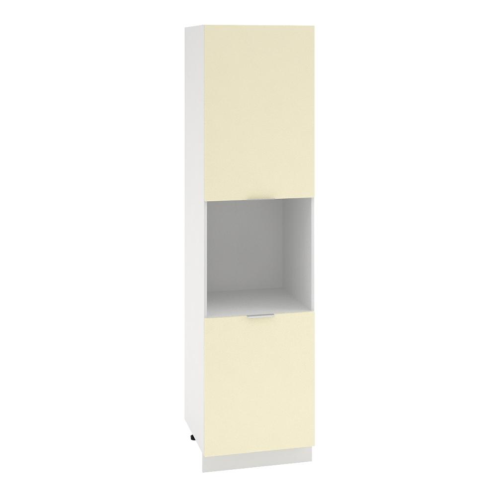 Шкаф пенал высокий ШП 600Н ТЕРРА (Ваниль софт) 600 мм