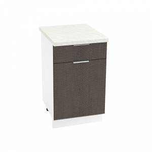 Шкаф нижний с 1 ящиком ШН1Я 500 ТЕРРА W (Венге) 500 мм