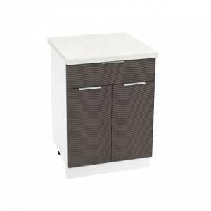 Шкаф нижний с 1 ящиком ШН1Я 600М ТЕРРА W (Венге) 600 мм