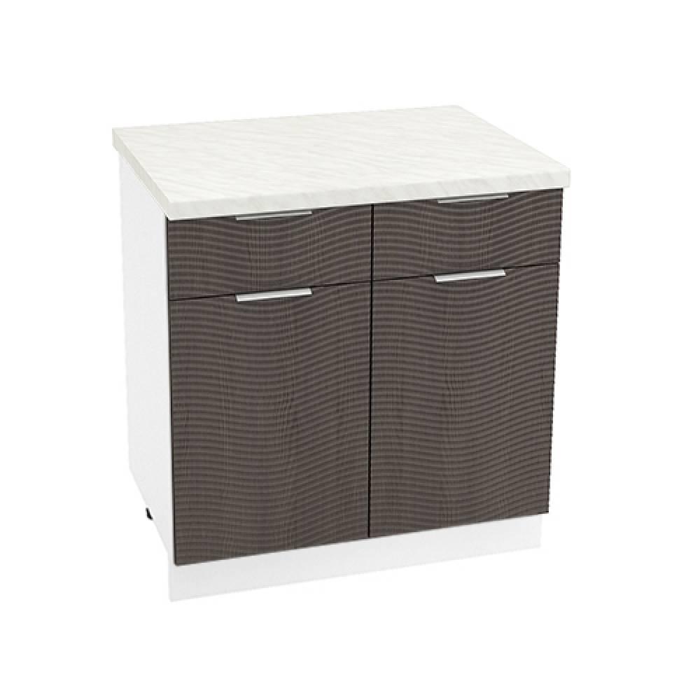 Шкаф нижний с 1 ящиком ШН1Я 800 ТЕРРА W (Венге) 800 мм