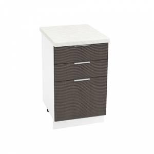 Шкаф нижний с 3 ящиками ШН3Я 500 ТЕРРА W (Венге) 500 мм
