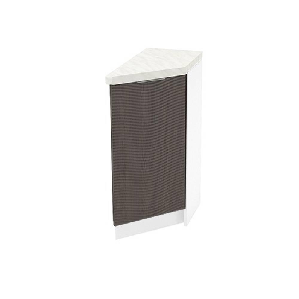 Шкаф нижний угловой торцевой правый ШНТ 300 R ТЕРРА W (Венге) 300 мм