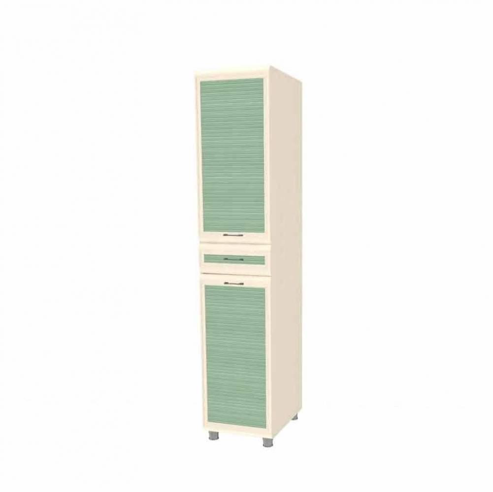 Шкаф многоцелевой ШК-1823 КСЮША (Дуб Беленый с зелеными вставками)