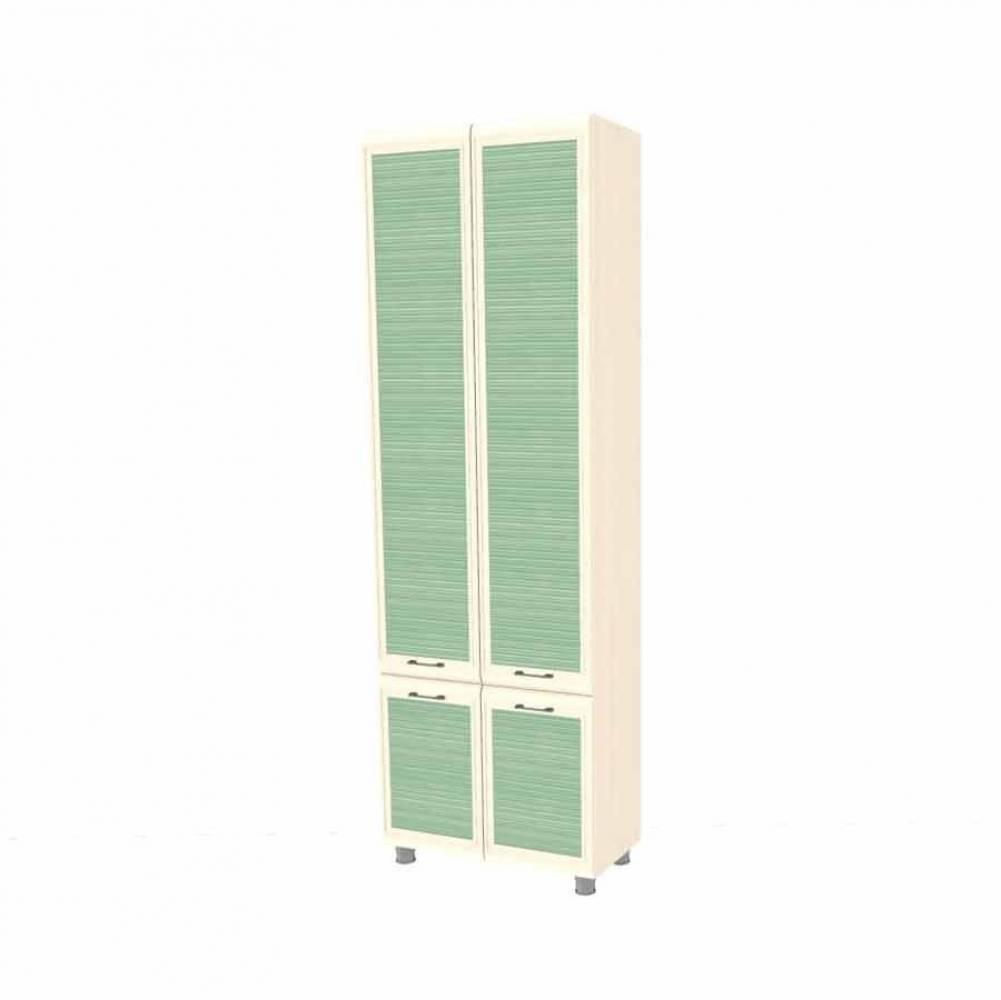 Шкаф многоцелевой ШК-1835 КСЮША (Дуб Беленый с зелеными вставками)