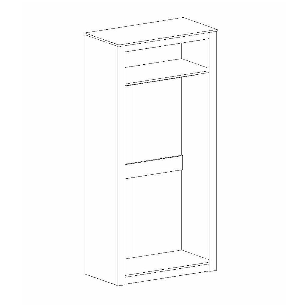 Шкаф 2-дверный ДАЛЛАС (Дуб Винтерберг/Таксония)