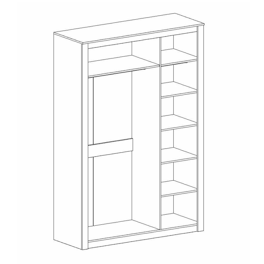 Шкаф 3-дверный ДАЛЛАС (Дуб Винтерберг/Таксония)