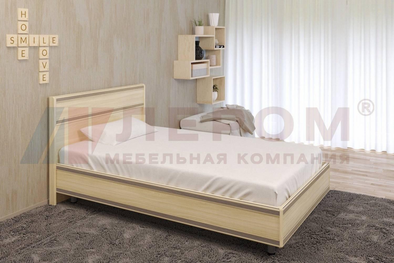 Кровать 1200 с ортопедическим основанием КР-2001 КАРИНА (Ясень Асахи)