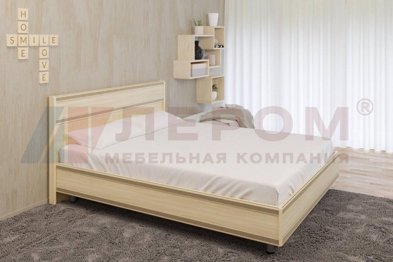 Кровать 1600 с ортопедическим основанием КР-2003 КАРИНА (Ясень Асахи)