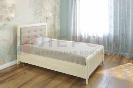 Кровать 1400 с ортопедическим основанием КР-2032 КАРИНА (Ясень Асахи)